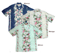 Kona Hibiscus Panel Men's Hawaiian Shirts