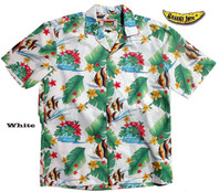 Kihikihi Fish (The Moorish Idol) Men's Aloha Shirt
