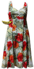 Kona Red Princess Cut Hawaiian Dress