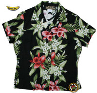 Kapiolani Panel Womens Fitted Hawaiian Shirt