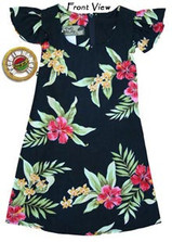 Girls Pele Red Hawaiian Tie Back Dress