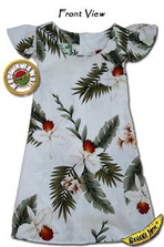 Girls Hawaiian Breeze Tie Back Aloha Dress