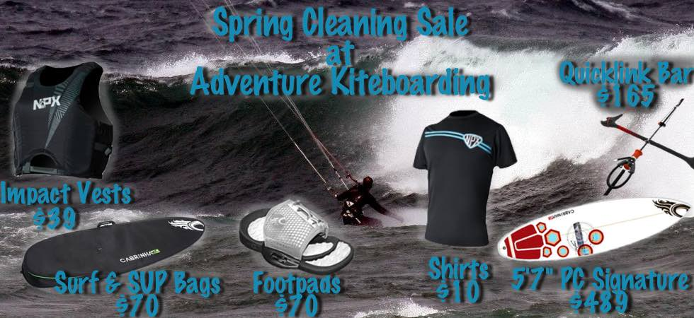 Spring Cleaning Sale @ Adventure Kiteboarding