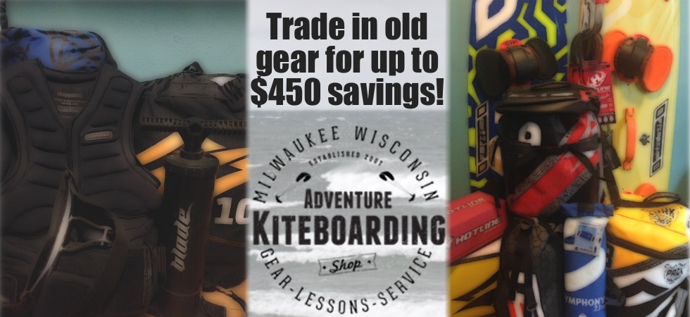 Trade in Kiteboarding gear.