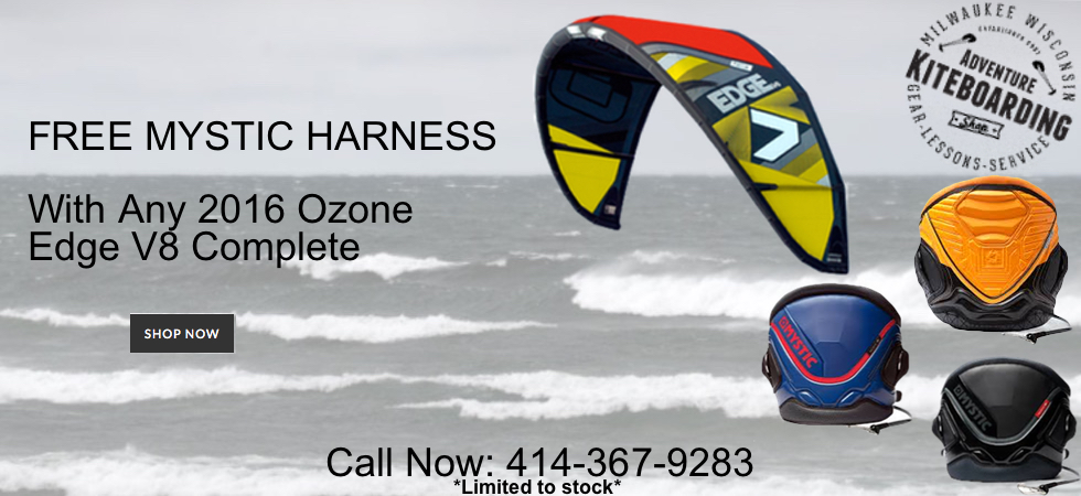 2016 Ozone Edge V8 with Free Mystic Kiteboarding Harness