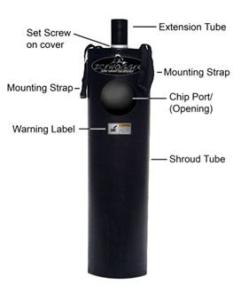 Our Ice Auger Shroud System adapts quickly and easily to power ice drills. Made from HDPE. Weighs 5 Lbs.  Made in the USA.