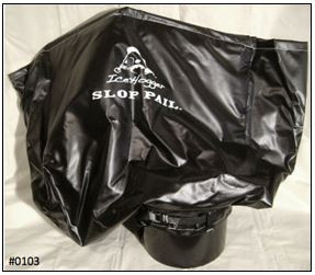 Material •	Bag: Vinyl Coated Polyester. If cut, will not continue tear! •	Cam Strap: Nylon W/Zinc plated Cam Buckle. •	Pail: High Density Polyethylene