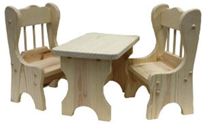 Doll Chair & Table Set Ready to Assemble Kit