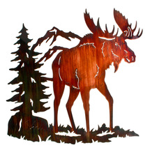 "Lazart ""Moose Ridge"" Moose Metal Wall ArtLazart ""Moose Ridge"" Moose Metal Wall Art"