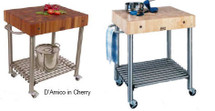 John Boos Cucina D'Amico Kitchen Cart