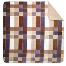 "Denali Purple Plaid Microsoft Throw 50"" x 60"""