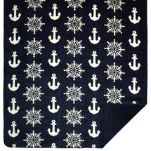 Anchors and Wheels Denali Microplush Throw