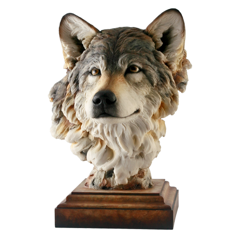 Head of The Pack - Wolf Sculpture