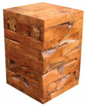 Cube Kodiak Teak Side Table by Groovystuff