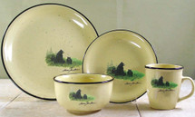 Scenic Bear and Cubs Dinnerware Set/16 - Lodge Collection