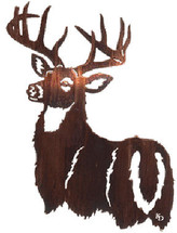 """His Majesty"" Deer Metal Wall Art by Lazart"