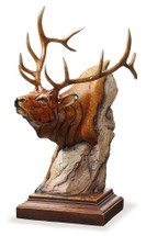 Power Play Elk Sculpture by Mill Creek Studios