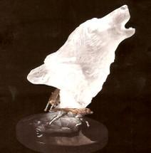"Starlite Originals ""Hunter's Song"" Wolf Sculpture"