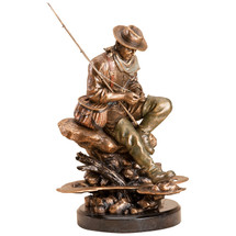 "Bliss"" Fisherman Sculpture by Marc Pierce"