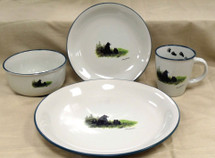 Bear and Cubs Dinnerware Set/16 - Cabin Collection