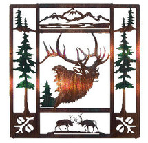 """Fall Bugle"" Elk Metal Wall Art"