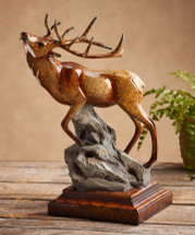 Clarion Elk Imago Sculpture by Stephen Herrero