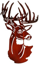 Fall Buck Head Metal Wall Art