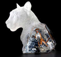 """""""The Hunter"""" Cougar Sculpture by Kitty Cantrell"""