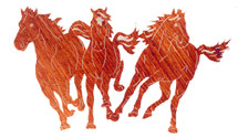 Stampede Metal Wall Art by Lazart