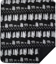 Black Denali Bear Denali Microplush Throw
