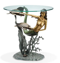 Mermaid and Sea Turtles End Table