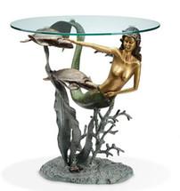 Mermaid and Sea Turtles End Table