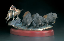 "Starlite Originals ""As Things Were"" Indian & Buffalo Sculpture"