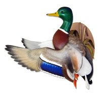 Prairie Skies Flying Mallard Wall Mount by Loon Lake Decoys