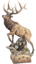 """Hoofin It"" Elk Sculpture by Mill Creek Studios"