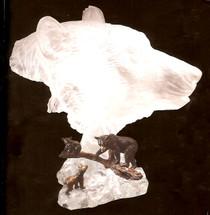 "Starlite Originals ""Mountain Family"" Bear Sculpture"