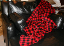 Red & Black Buffalo Check Microplush Throw