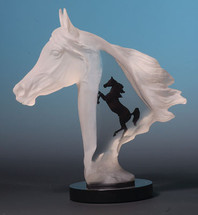 """Royal Arabian"" Horse Sculpture by Kitty Cantrell"