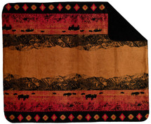 "Denali Roaming Buffalo Microplush Throw 50"" x 60"""