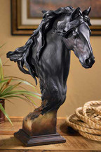 Equus Large Fresian Horse Bust by Mill Creek Studios