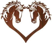 Heart of Horses Metal Wall Art