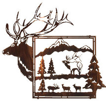 """King of the Mountain"" Elk Wall Art"