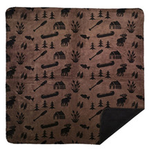 "Denali Taupe Camp Microsoft Throw 50"" x 60"""