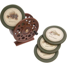 Fly Reel Coaster Set with Stand by Big Sky Carvers