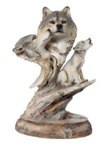 Family Song Wolf Sculpture by Joe Slockbower