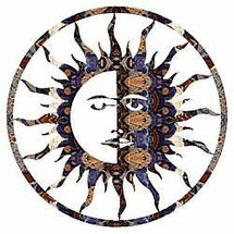 "Sun Moon 24"" Metal Wall Art"
