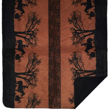 Sunset Cowboy Denali Microplush Throw
