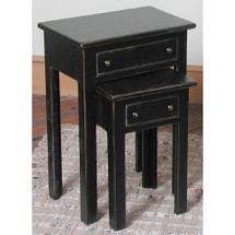 2-Day Designs Black Nesting Tables W/ Drawers