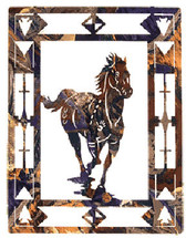 "Lazart ""Escape"" Horse Metal Wall Art"