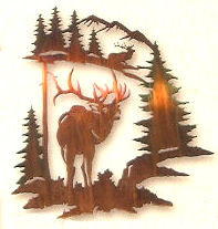 Elk Challenge Metal Wall Art